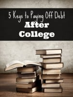5 Keys to Paying Off Debt After College