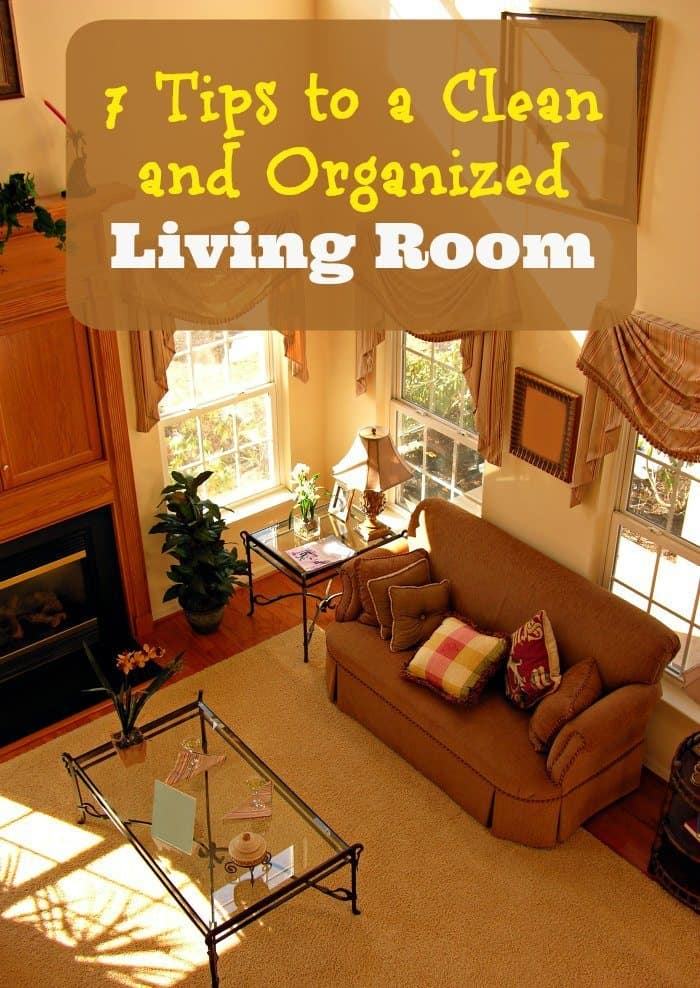 7 Tips to a Clean and Organized Living Room
