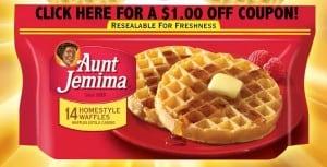 Aunt Jemima Frozen Waffle Coupon