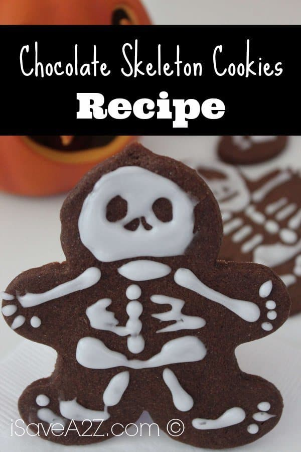 Chocolate Skeleton Cookies - iSaveA2Z.com