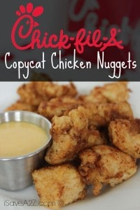 Copycat Chick Fil A Chicken Nuggets & Sauce