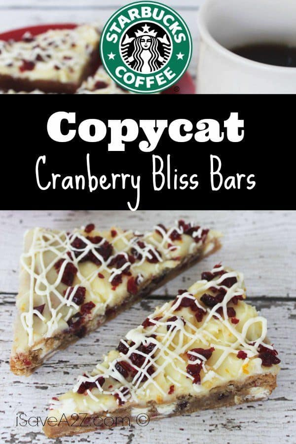 Copycat Starbucks Cranberry Bliss Bars Isavea2z Com