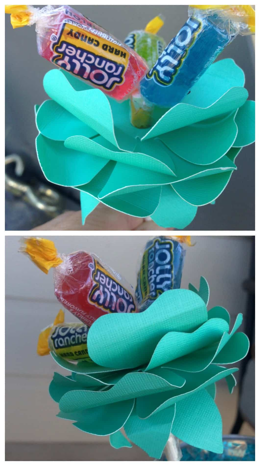 Easy Silhouette Project Candy Flower Idea