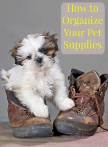 How to Organize Your Pet Supplies