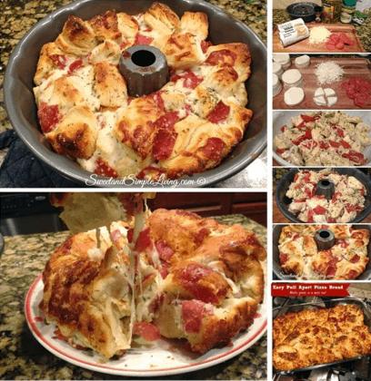 Easy Pull Apart Pizza Bread Recipe