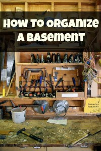 how to organize a basement