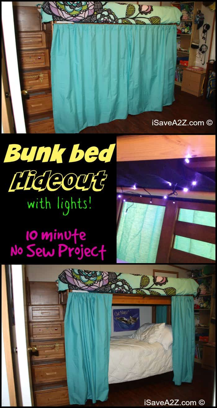 Bunk Bed Hideout With No Sew Curtains Isavea2z Com