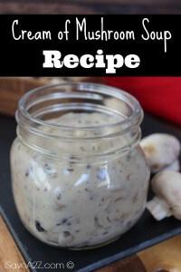 Easy Condensed Cream of Mushroom Soup