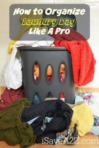 Organize Laundry Day