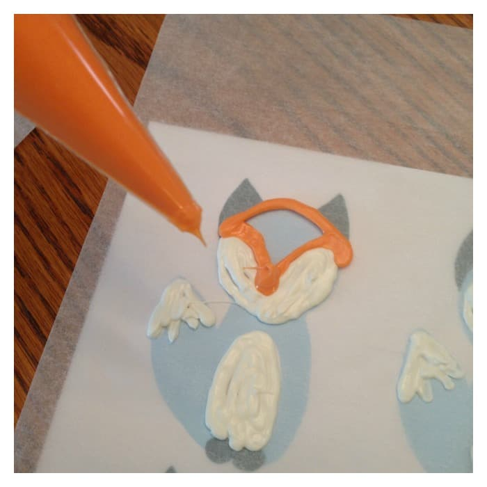 Chocolate Fox Cupcake Toppers