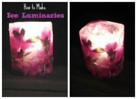 How to make Holiday Ice Luminaries