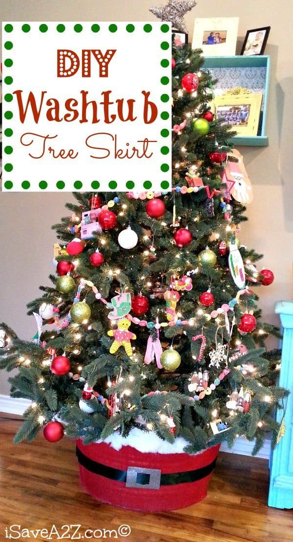 Diy washtub tree skirt easy project and so cute