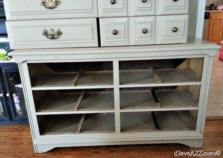 upcycled dresser to entertainment center