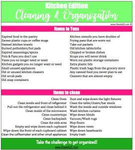 Kitchen Cleaning and Organization Checklist