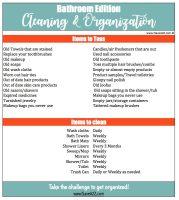 Bathroom Cleaning and Organization Checklist