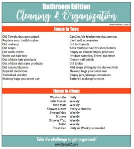 Bathroom Cleaning and Organization Checklist