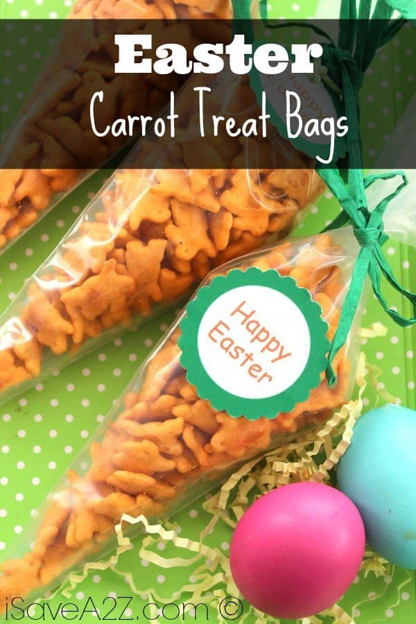 If you're looking for a super easy way to present your cute Easter snacks to match, then these Carrot Easter Treat Bags will be perfect for you!