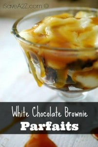 White Chocolate Brownie Parfaits