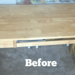 IKEA Desk Makeover Using Stencils