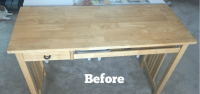 IKEA Desk Makeover using Stencils