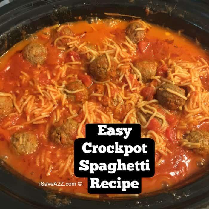 Easy Crockpot Spaghetti Recipe Isavea2z Com