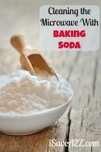 Cleaning the Microwave With Baking Soda