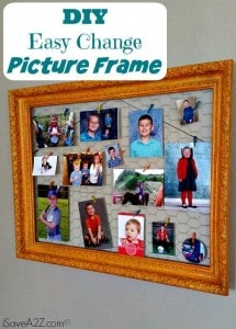 DIY Easy Change Picture Frame