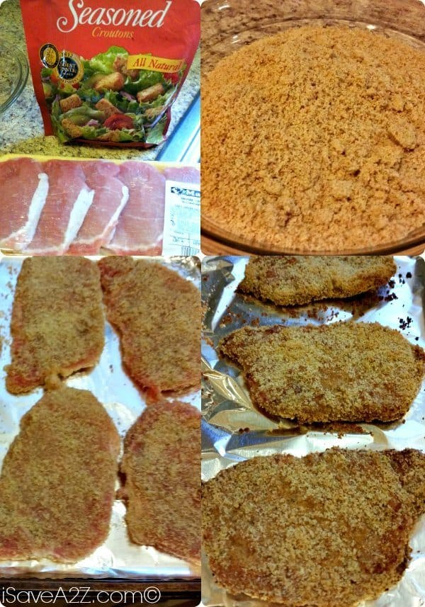 crouton crusted pork chops