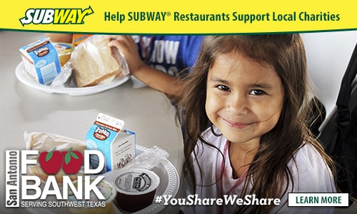 Subway 174 Joins Forces With Local Charities In San Antonio