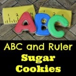 ABC and Ruler Sugar Cookies