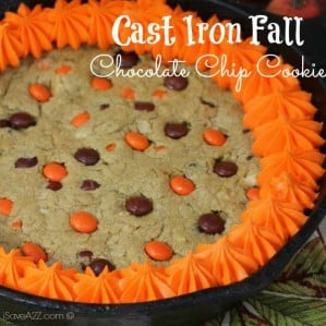 Cast Iron Fall Chocolate Chip Cookie