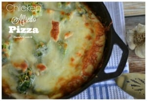 Skillet Chicken Alfredo Pizza