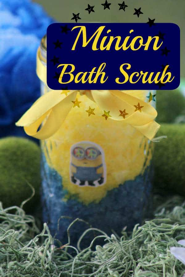 Check our great DIY tutorial for these Minion themed bath scrubs! If you or someone you know is a fan of the Minions, then you should check this out!