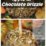 Pecan Caramel Apple with Chocolate Drizzle