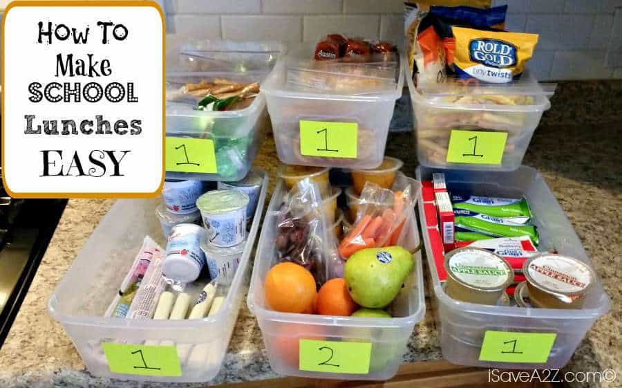 how to make school lunches easy