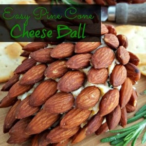 Easy Pine Cone Cheese Ball