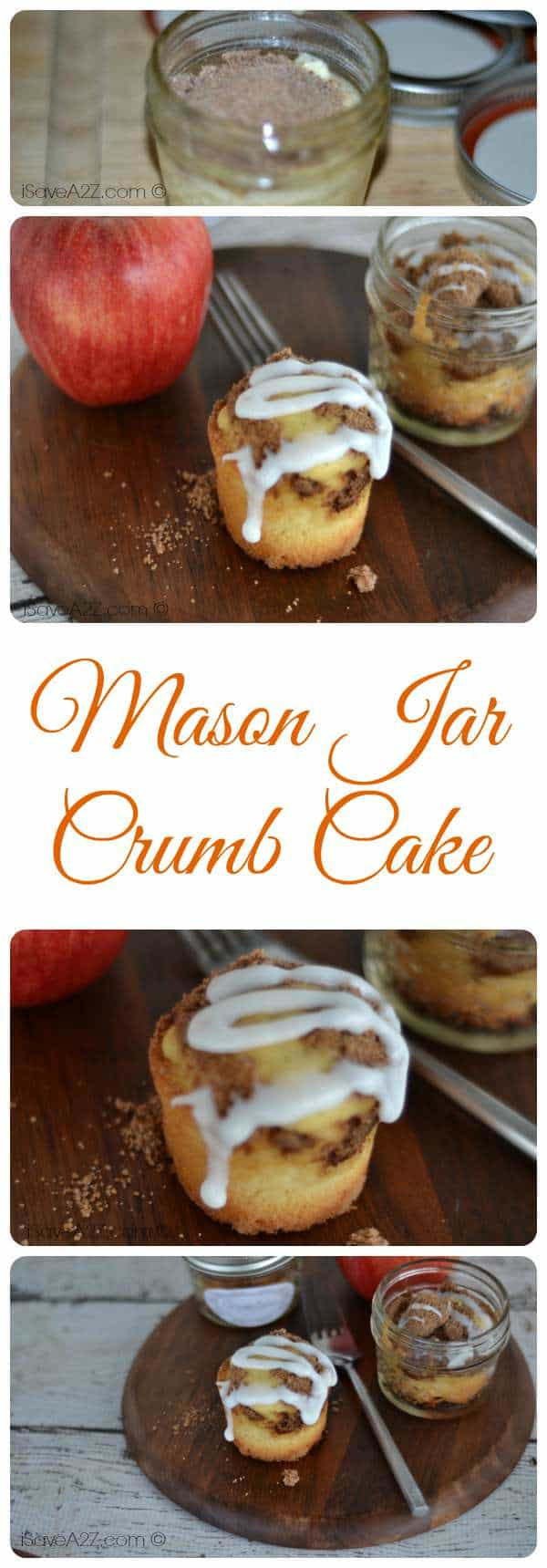 Mason Jar Crumb Cake Recipe Easy Brunch Dessert Idea