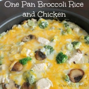 One Pan Broccoli Rice and Chicken