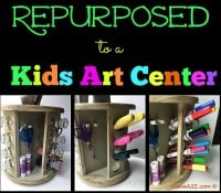 Repurposed Spice Rack to a Kids Art Center
