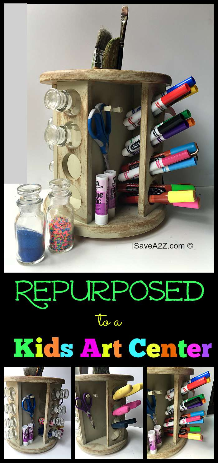repurposed furniture for kids. Repurposed Spice Rack To A Kids Art Center Furniture For O