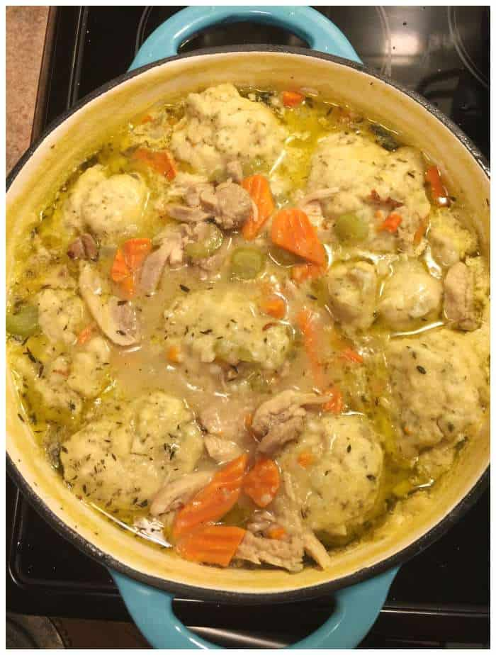 Homemade Chicken and Dumplings from Scratch