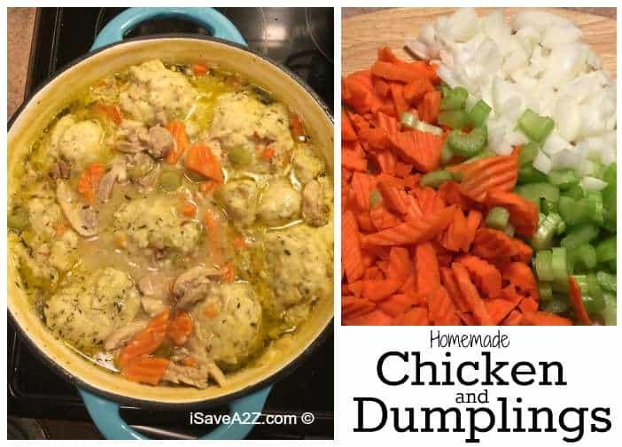 Homemade Chicken and Dumplings from Scratch