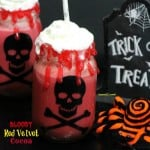Bloody Red Velvet Cocoa Drink Idea for Halloween