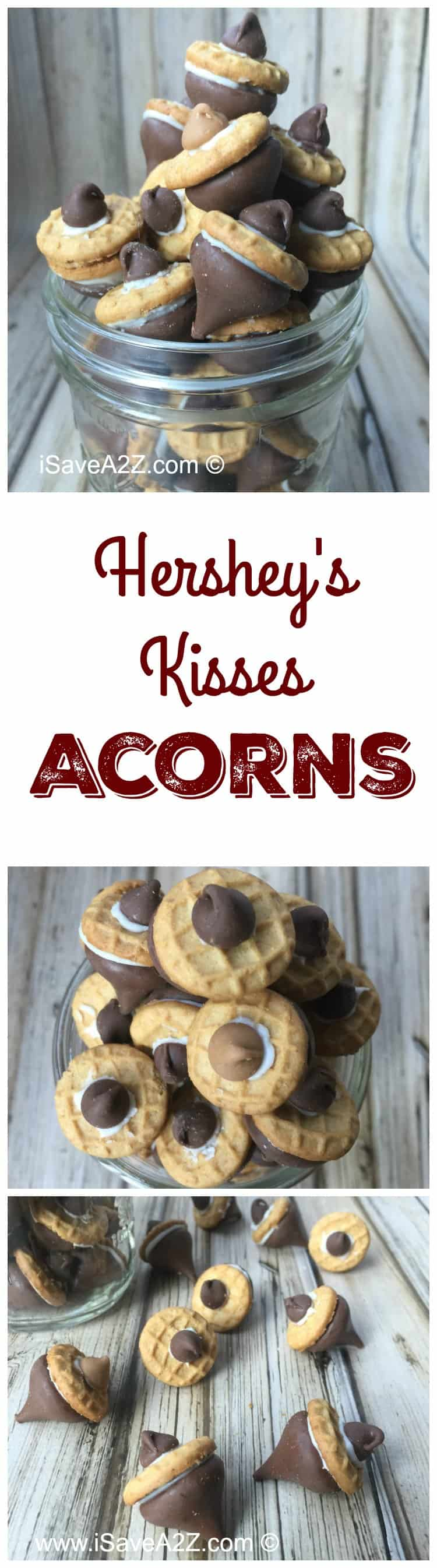 Cute Acorns made out of Hershey's Kisses