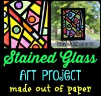 Paper Craft Idea: Stained Glass Art Project