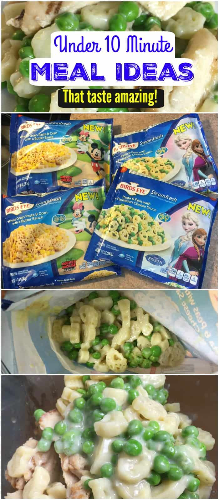 Under 10 Minute Quick Meal Ideas for Families