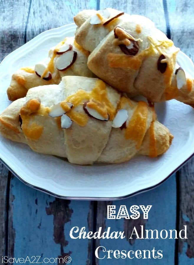easy cheddar almond crescents