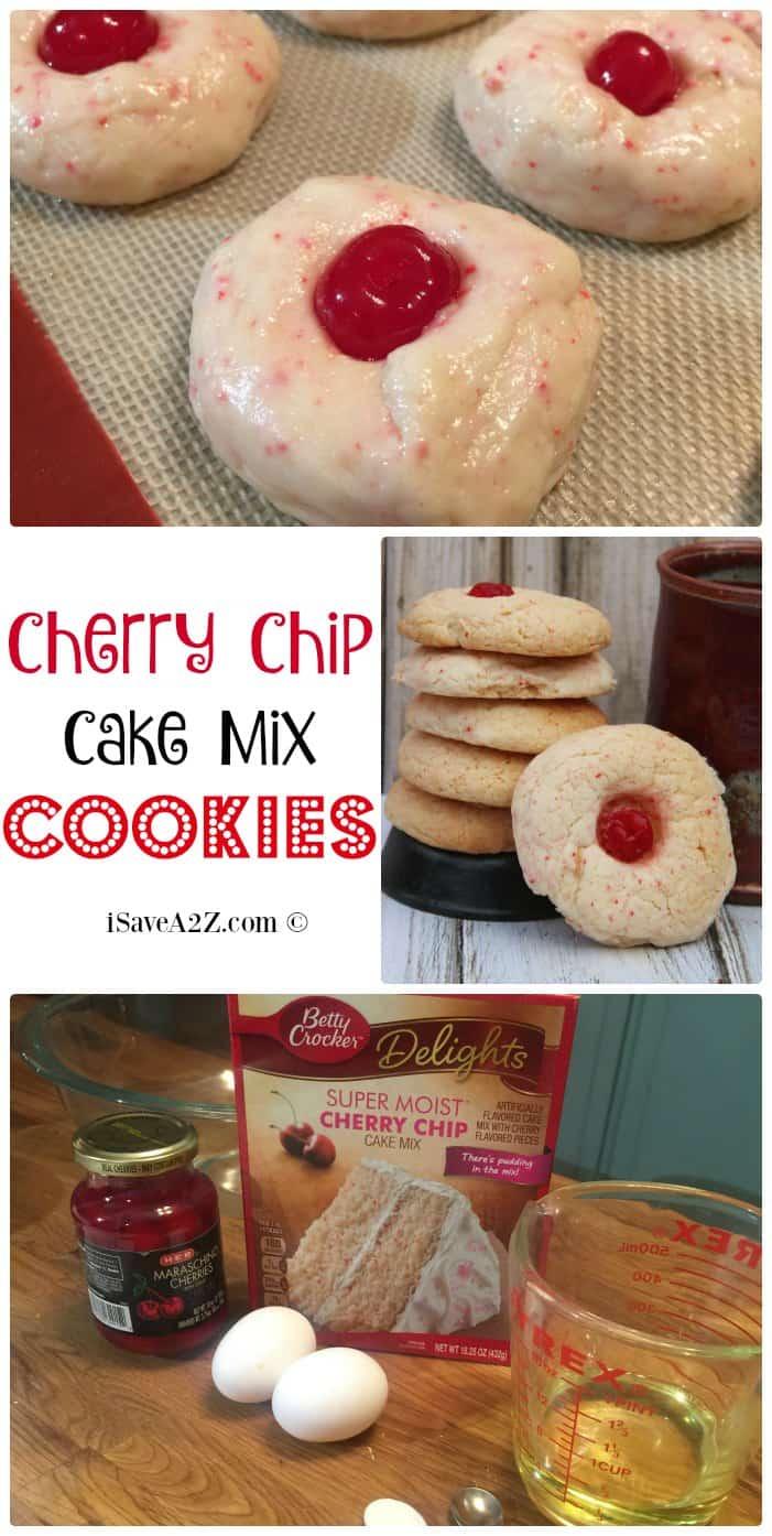Cherry Chip Cake Mix Cookies Recipe