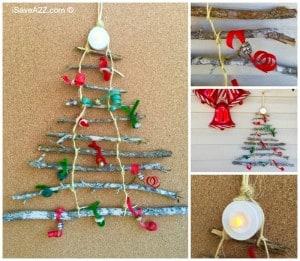 Christmas Tree Made Out of Sticks