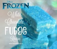 Disney's Frozen Inspired White Chocolate Fudge Recipe